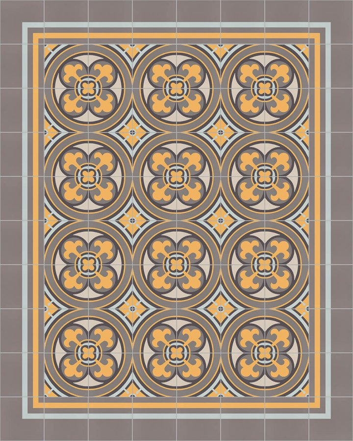 Floor tiles Floor Tiles multi-coloured Layouts and patterns SFTG 8308 H