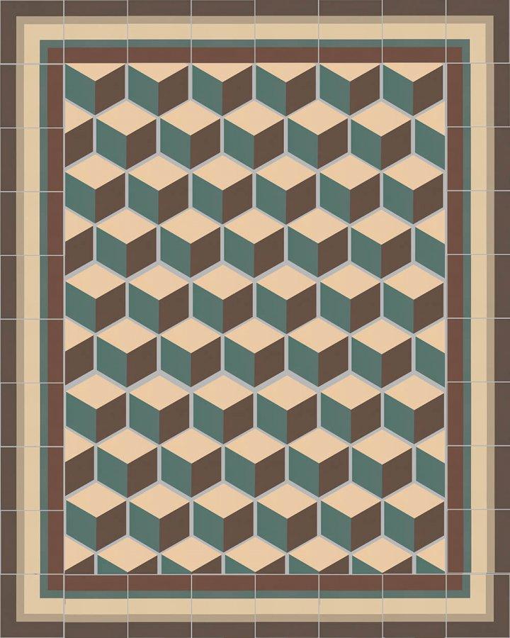 Floor tiles Floor Tiles multi-coloured stoneware hexagonal SF 317 B