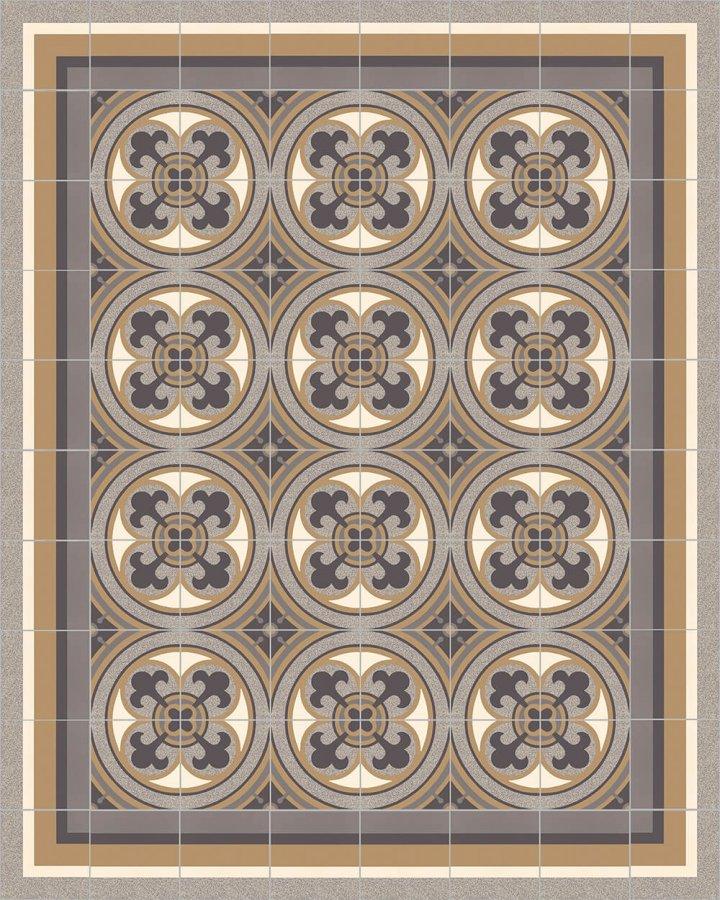 Carreaux pour sol Grès fin - polychrome Calepinage SFTG 8505 C