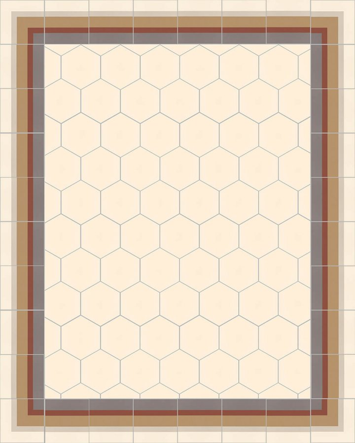 Floor tiles Stonware hexagona floor tiles hexagonal SF 17.1