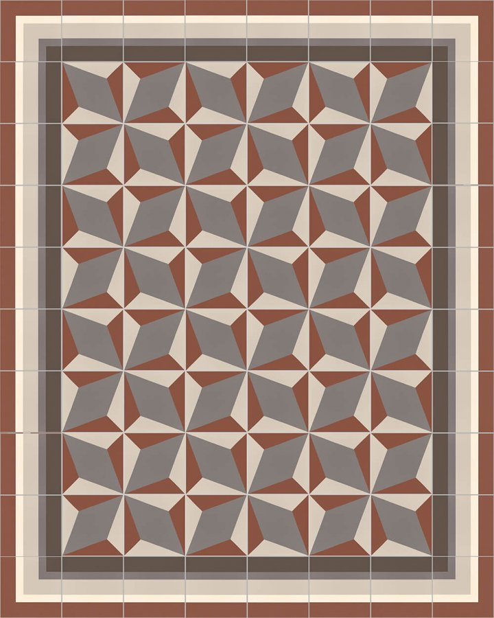 Floor tiles Floor Tiles multi-coloured Layouts and patterns SFTG 8505 F e