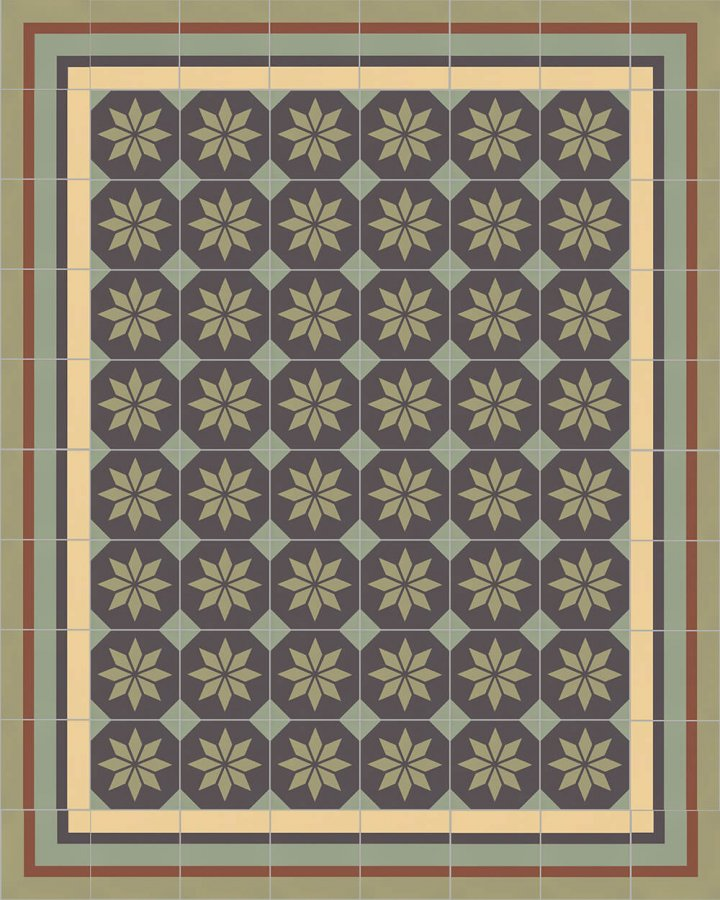 Floor tiles Floor Tiles multi-coloured Layouts and patterns SFTG 8505 J e