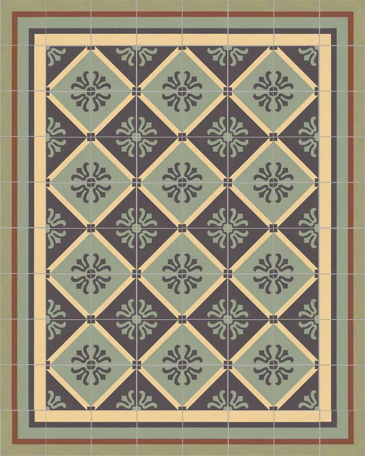 Floor tiles Floor Tiles multi-coloured Layouts and patterns SFTG 8505 J