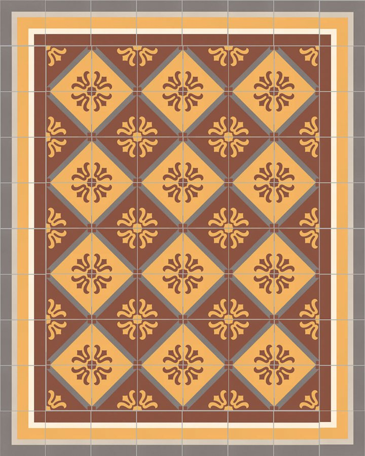 Floor tiles Floor Tiles multi-coloured Layouts and patterns SFTG 8505 K e