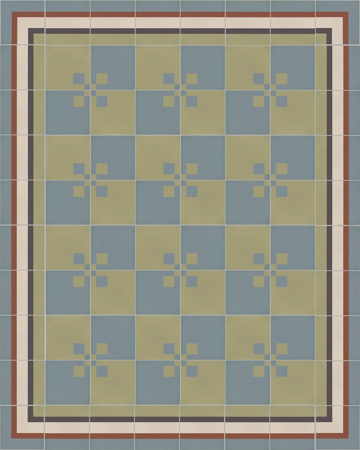 Floor tiles Floor Tiles multi-coloured Layouts and patterns SFTG 8207 L b