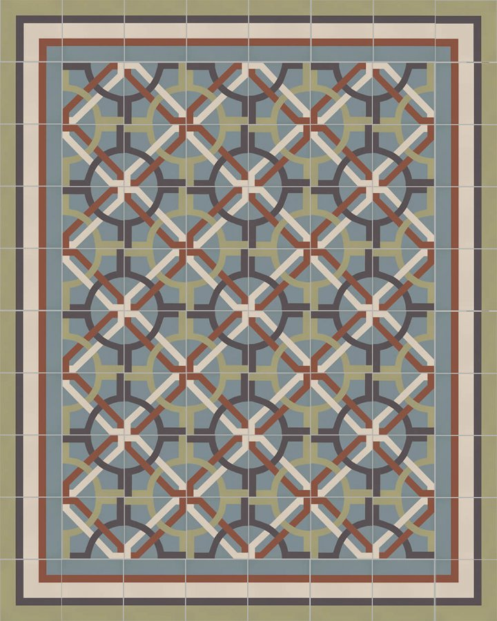 Floor tiles Floor Tiles multi-coloured Layouts and patterns SFTG 8505 L e