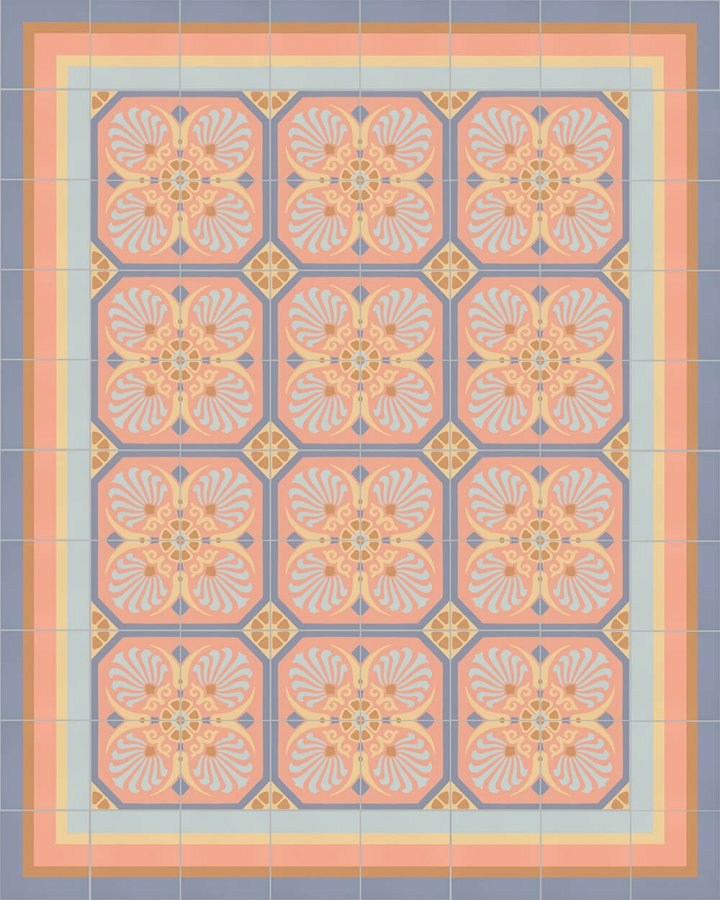 Floor tiles Floor Tiles multi-coloured Layouts and pattern SF 558 N