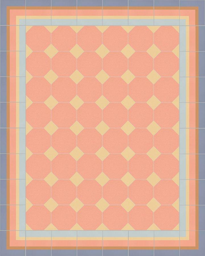 Floor tiles Stoneware octagonal Verlegebeispiel SF 80A.16 S