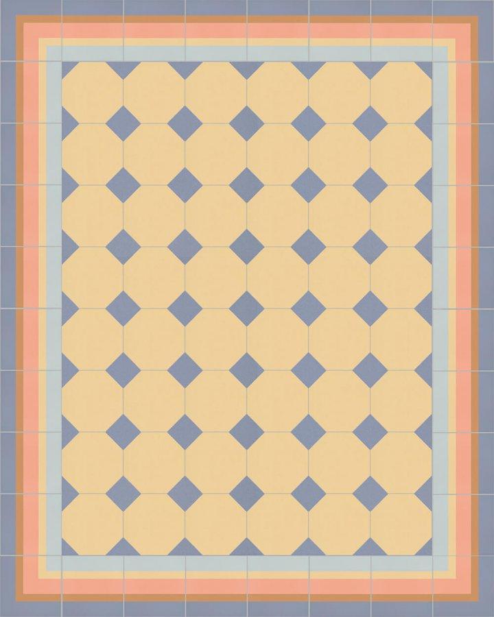 Carreaux pour sol Carreaux octogonal Verlegebeispiel SF 80A.7