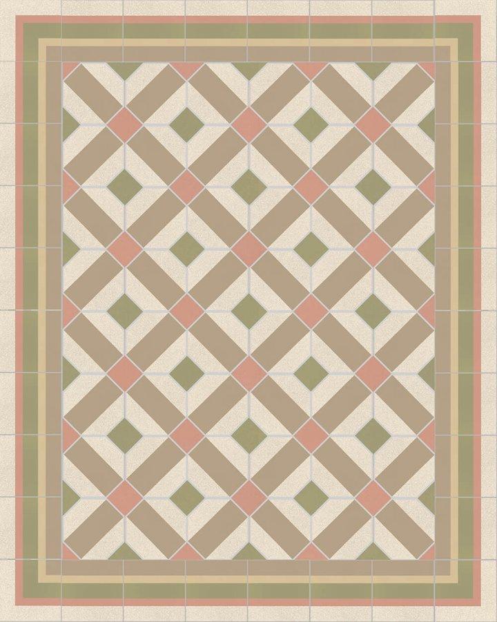 Floor tiles Floor Tiles multi-coloured Verlegebeispiel SFTG 8505 B