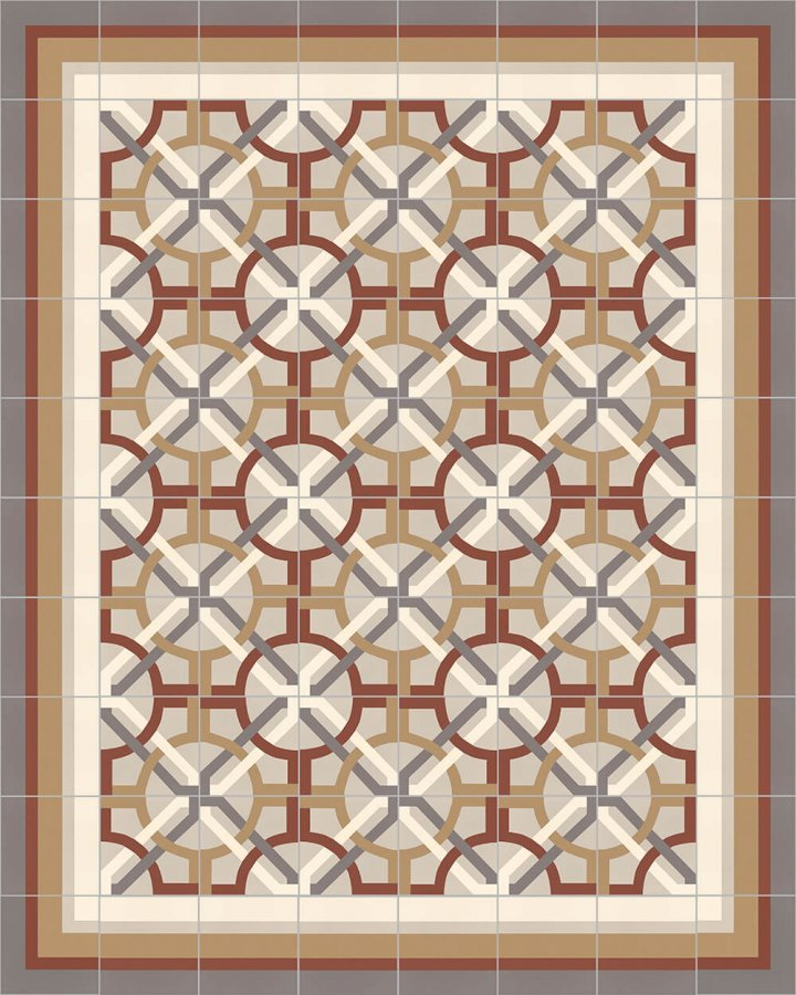 Floor tiles Floor Tiles multi-coloured Layouts and patterns SFTG 8505 D e