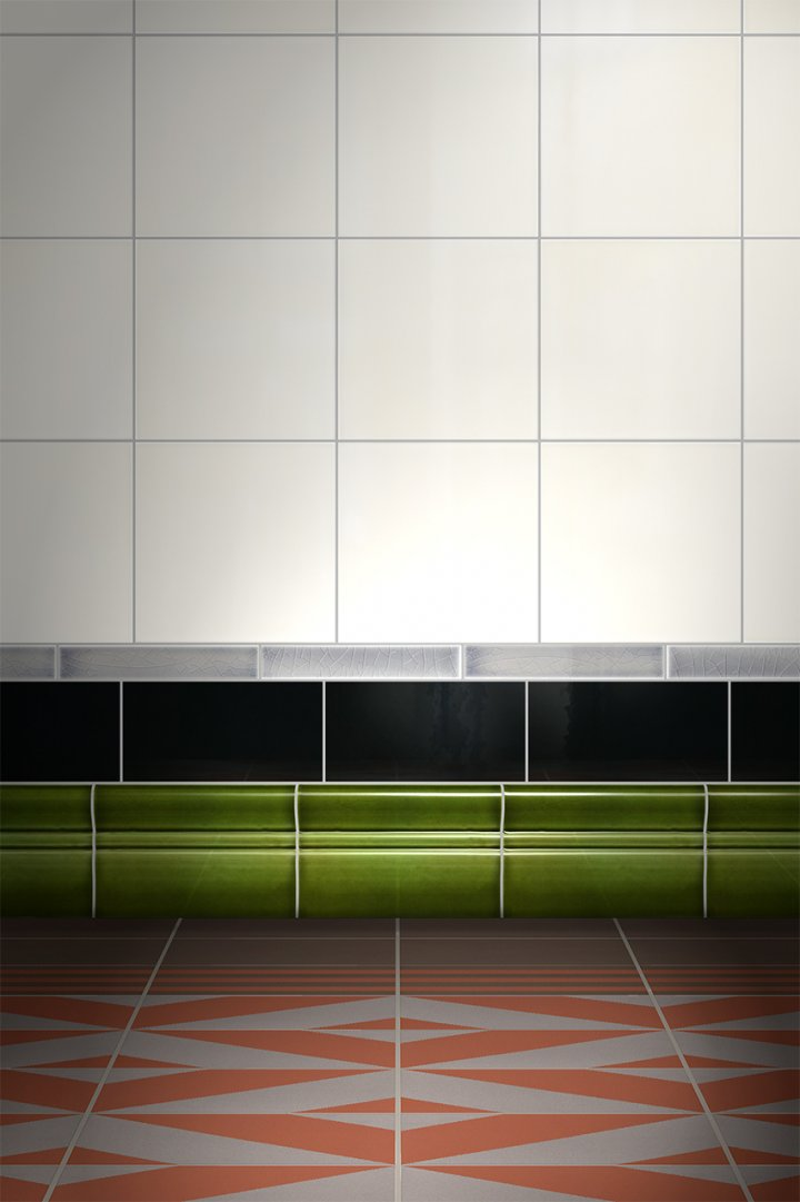 Wall tiles Borders, base tiles and trim pieces Verlegebeispiel SOF 1.28