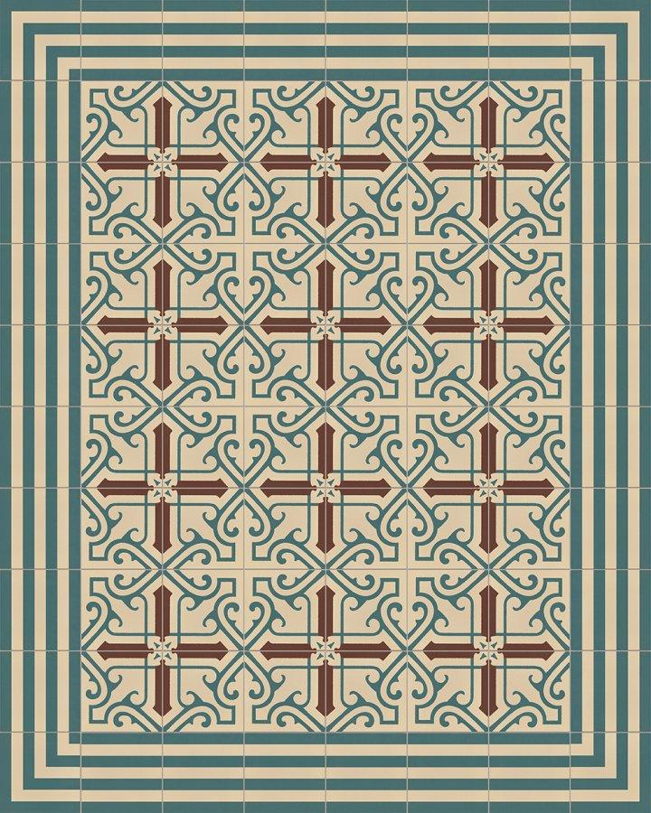 Floor tiles Floor Tiles multi-coloured Layouts and patterns SFTG 7202 B e