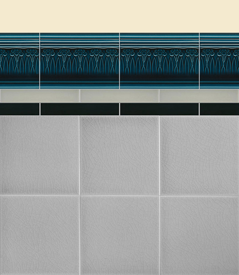 Wall tiles Borders, base tiles and trim pieces Verlegebeispiel B 13.653