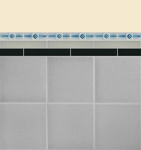 Wall tiles Borders, base tiles and trim pieces Verlegebeispiel B 15