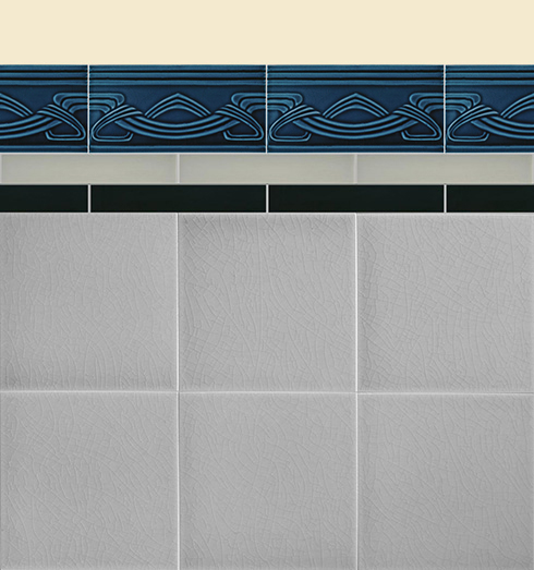 Wall tiles Borders, base tiles and trim pieces Verlegebeispiel B 19.636