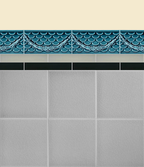 Wall tiles Borders, base tiles and trim pieces Verlegebeispiel B 31.653