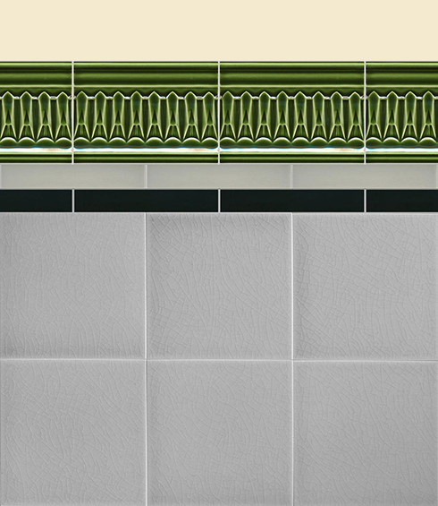 Wall tiles Borders, base tiles and trim pieces Verlegebeispiel B 6.28