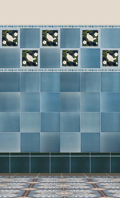 Carreaux muraux  Avec motifs Verlegebeispiel F 164 V1