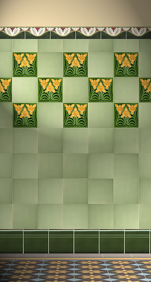 Carreaux muraux  Avec motifs Verlegebeispiel F 169 V1