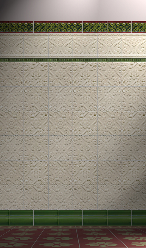 Wall tiles Tiles decorated Verlegebeispiel F 193 V1
