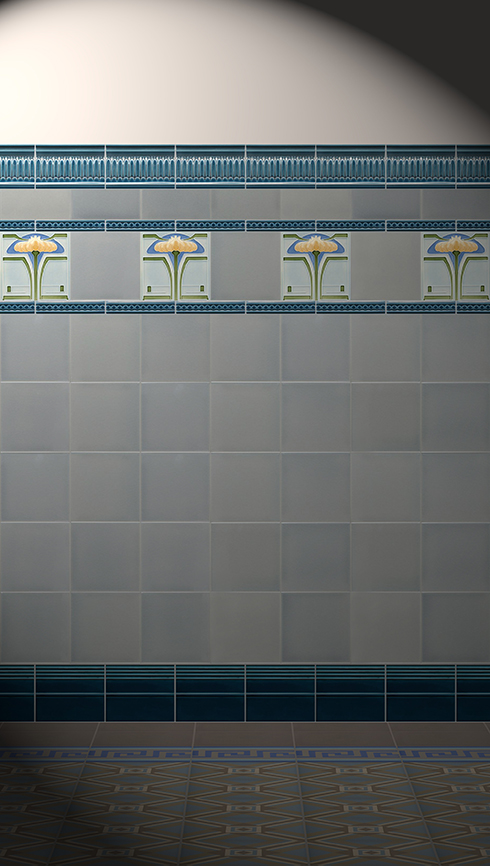 Wall tiles Tiles decorated Verlegebeispiel F 26 V2