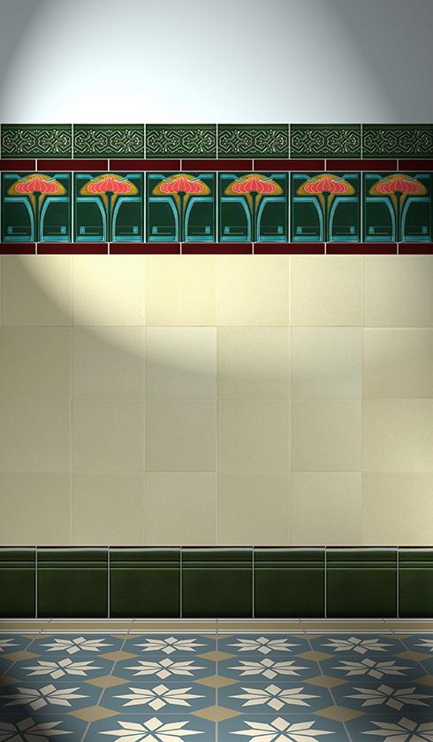 Carreaux muraux  Avec motifs Verlegebeispiel F 26 V3