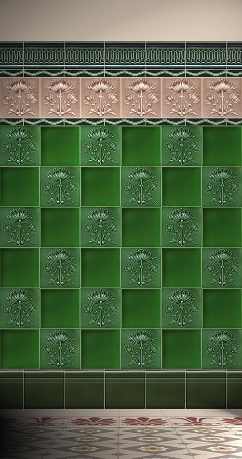 Wall tiles Tiles decorated Verlegebeispiel F 52.28