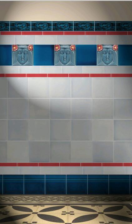 Carreaux muraux  Avec motifs Verlegebeispiel F 5 V2