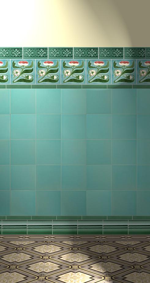 Carreaux muraux  Avec motifs Verlegebeispiel F 6 V1
