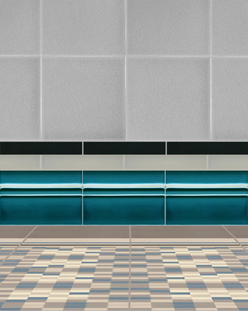 Wall tiles Borders, base tiles and trim pieces Verlegebeispiel SOF 1.653