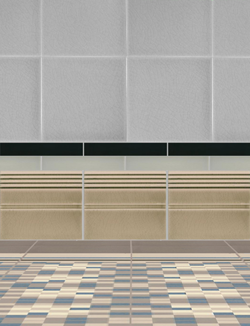 Wall tiles Borders, base tiles and trim pieces Verlegebeispiel SOF 3.17