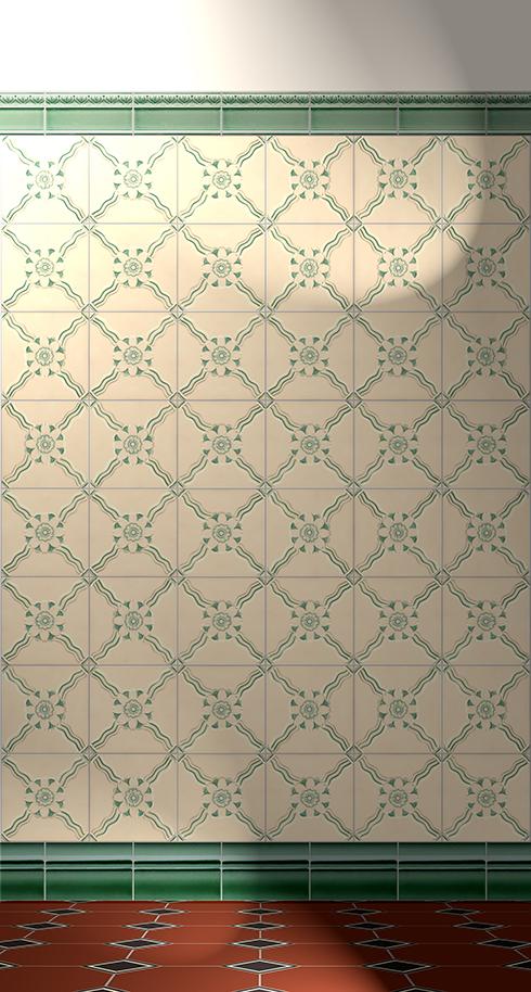 Wall tiles Tiles decorated Verlegebeispiel F 11 V1