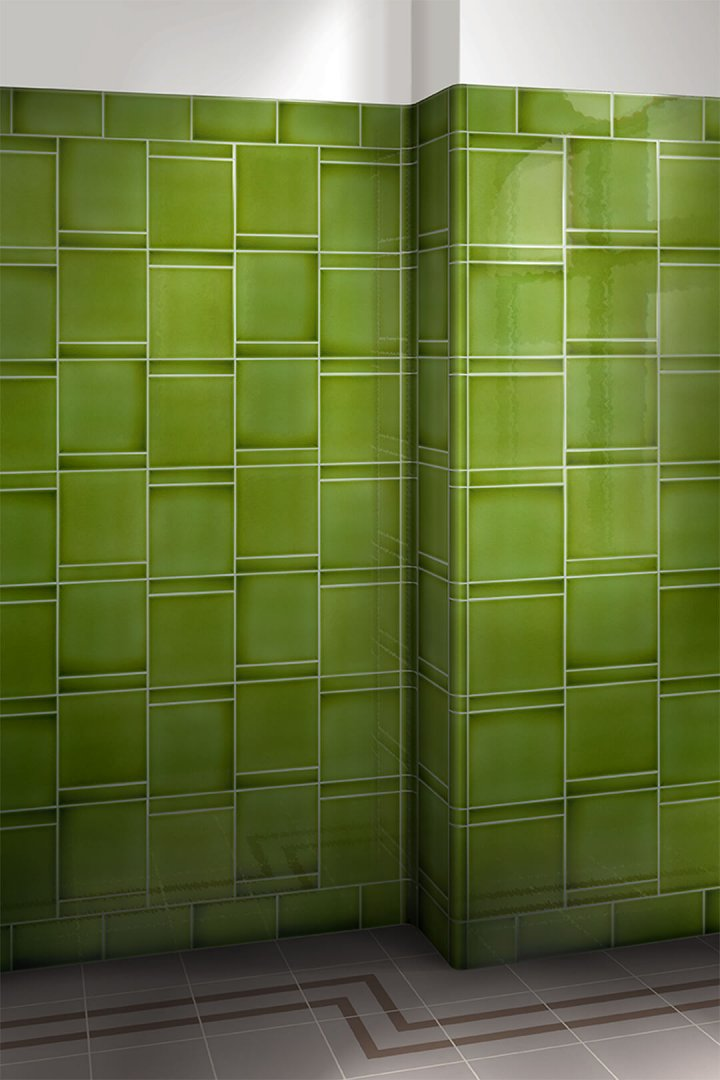 Wall tiles single-coloured Verlegebeispiel F 10.11