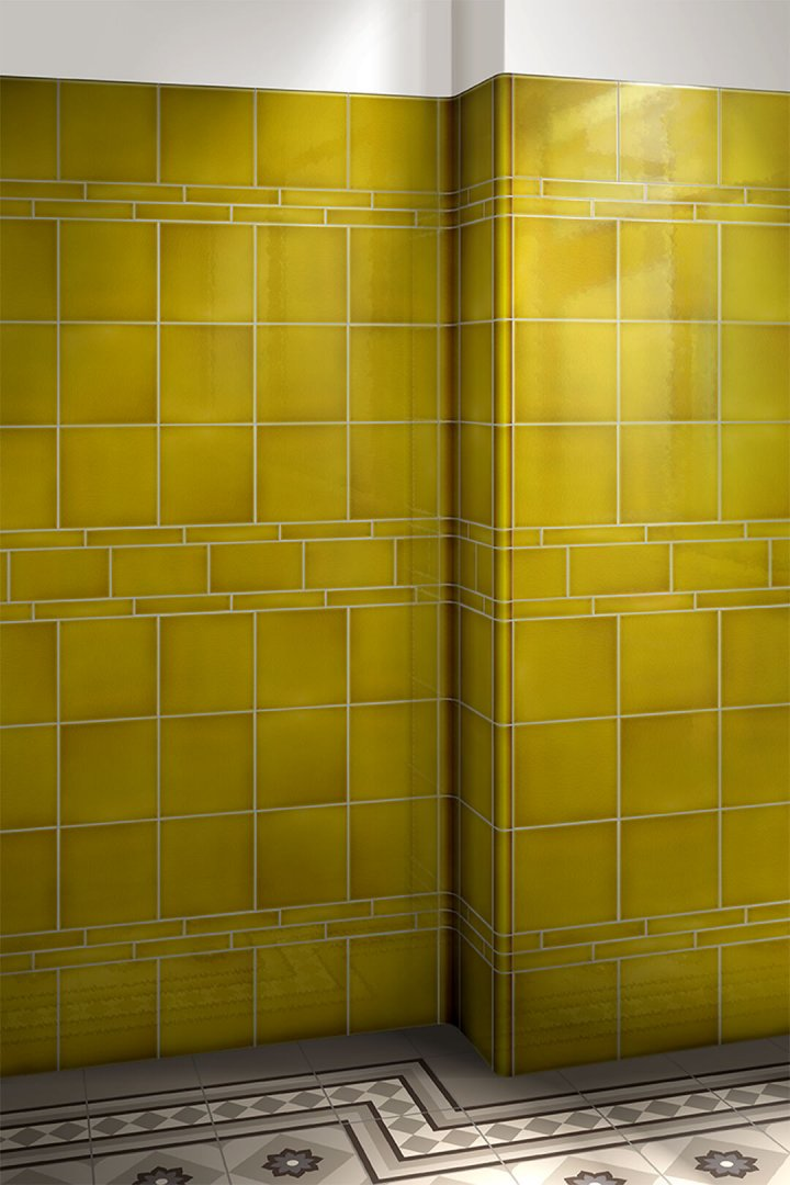 Wall tiles single-coloured Verlegebeispiel F 10.12