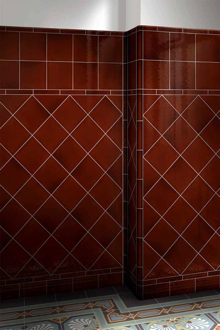 Wall tiles single-coloured Verlegebeispiel F 10.18