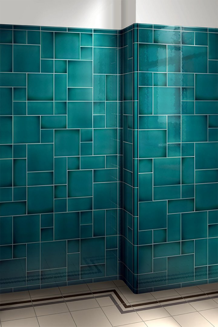 Wall tiles single-coloured Verlegebeispiel F 10.19