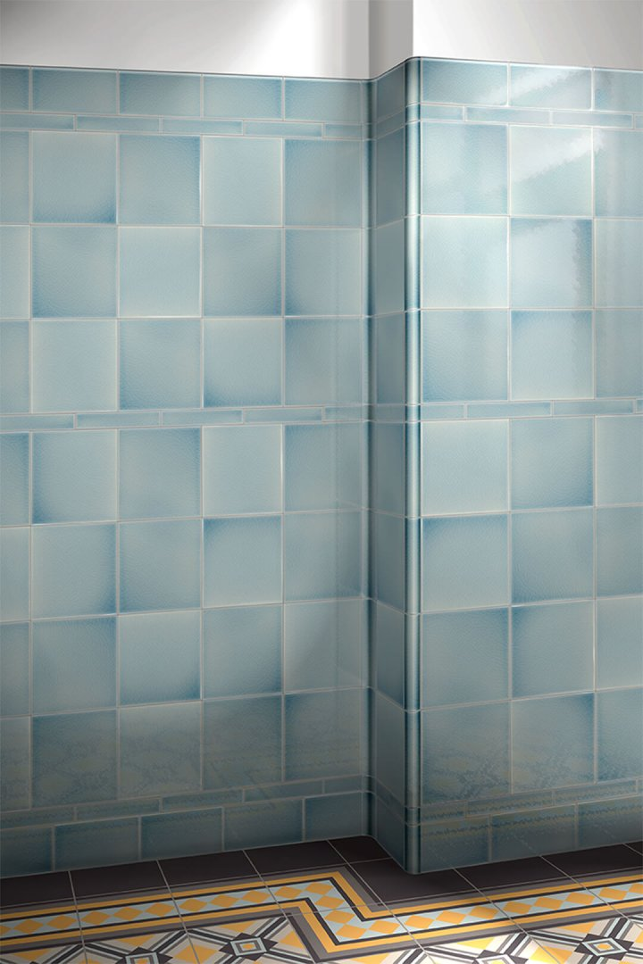 Wall tiles single-coloured Verlegebeispiel F10.4