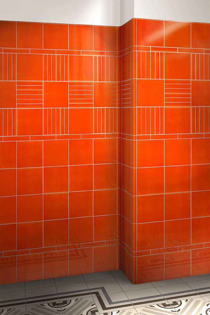 Wall tiles single-coloured Verlegebeispiel F 10.415
