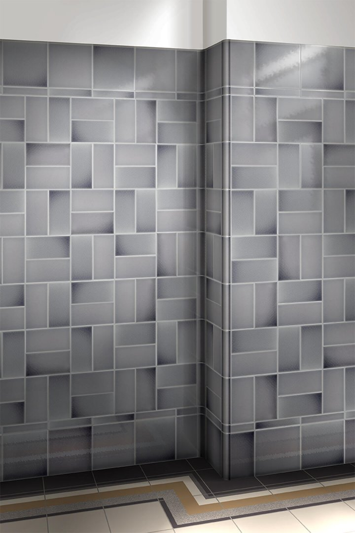 Wall tiles single-coloured Verlegebeispiel F 10.45