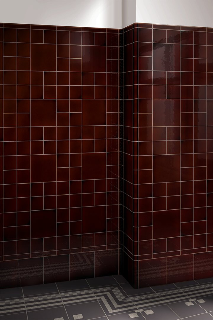 Wall tiles single-coloured Verlegebeispiel F 10.52