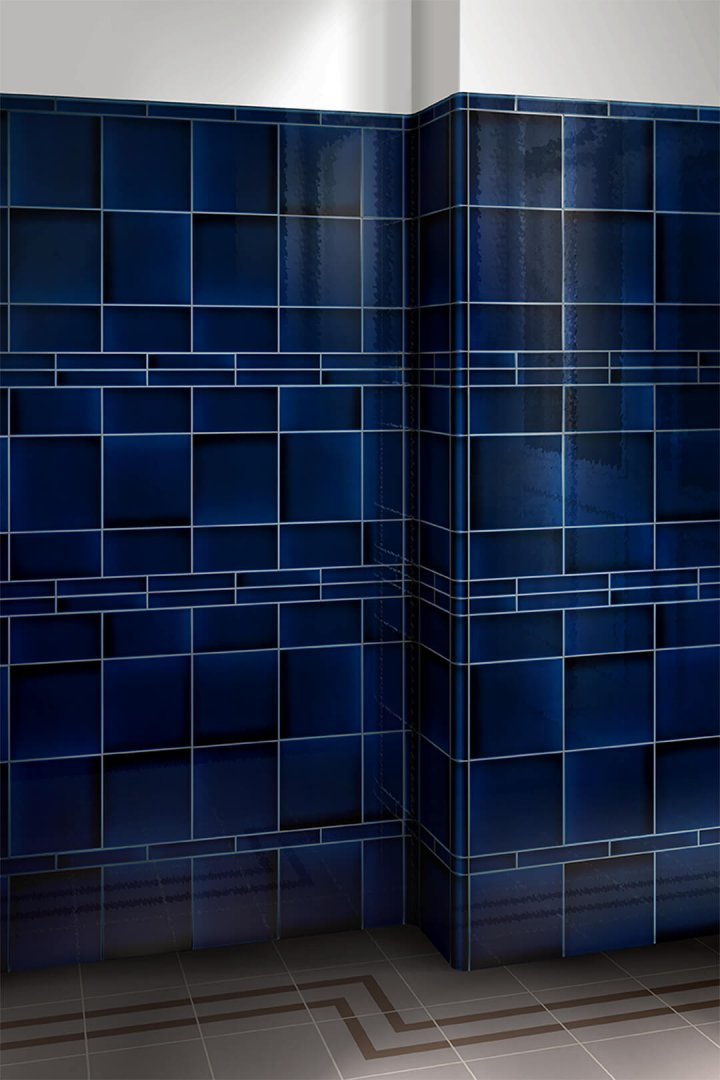 Wall tiles single-coloured Verlegebeispiel F 10.601