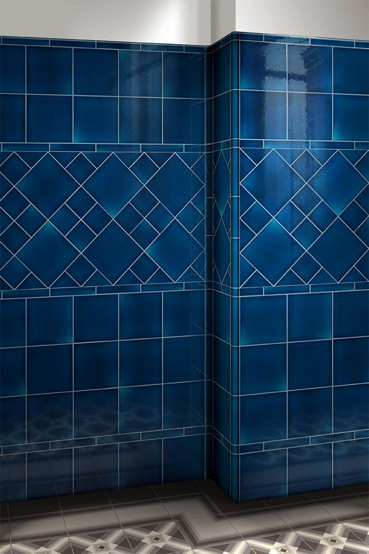 Wall tiles single-coloured Verlegebeispiel F 10.653