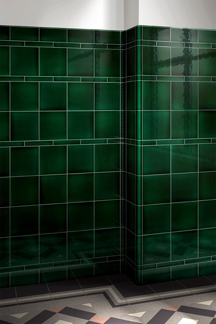 Wall tiles single-coloured Verlegebeispiel F 10.7