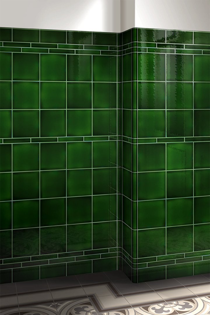 Wall tiles single-coloured Verlegebeispiel F 10.8