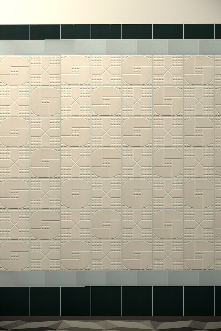 Wall tiles Tiles decorated Verlegebeispiel F 36 V1