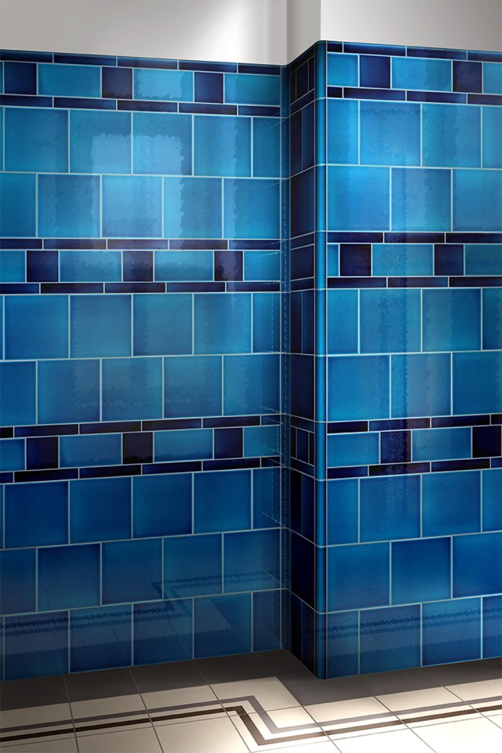 Wall tiles single-coloured Verlegebeispiel F 10.603
