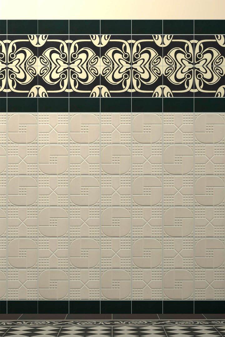 Carreaux muraux  Avec motifs Verlegebeispiel F 35 V1