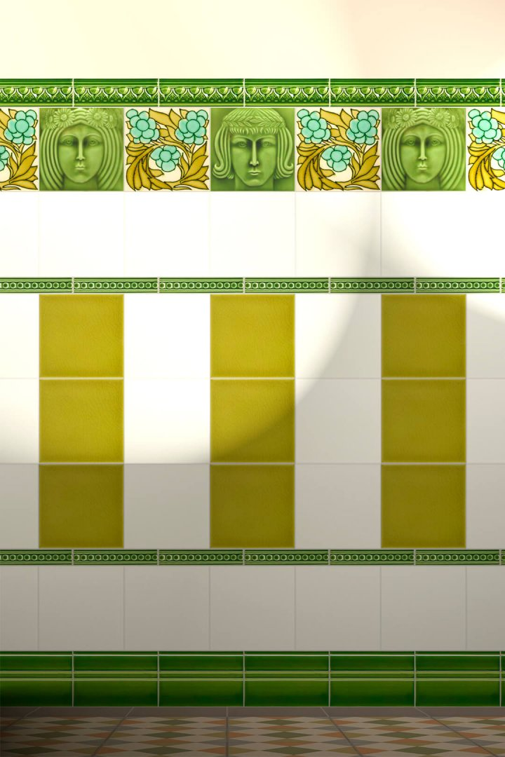 Carreaux muraux  Avec motifs Verlegebeispiel F 43a.11