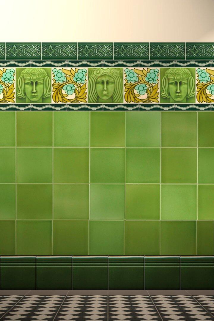 Wall tiles Tiles decorated Verlegebeispiel F 43b.11